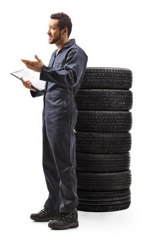tyre guy; clipboard